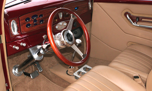 1937 Ford Coupe — interior